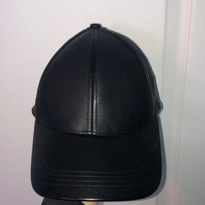 black leather hat from H&M